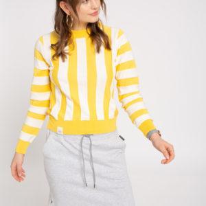 Recolution Damen Pullover Knit Crew Neck Striped