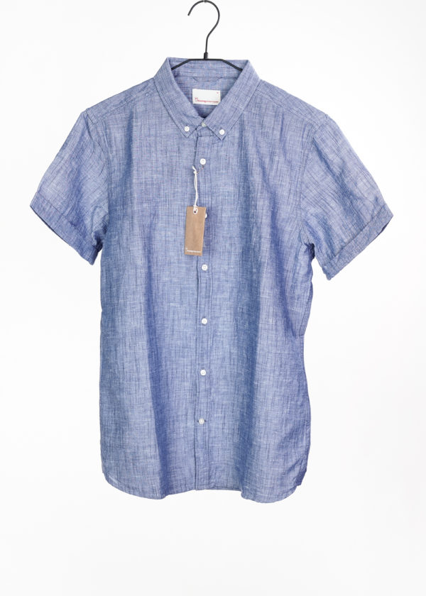 KnowledgeCotton Herren Hemd Cotton/Linen Short Sleeved Shirt 90734