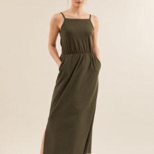 Lanius Damen Kleid Maxikleid
