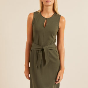 Lanius Damen Kleid mit Bindedetail