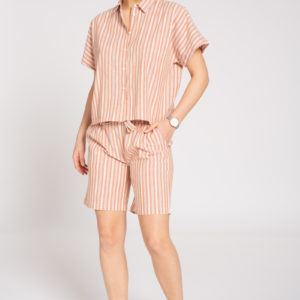 Recolution Damen Shorts Linen Stripes