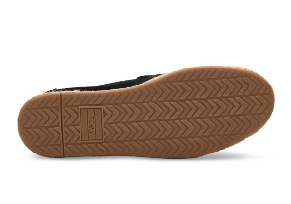 TOMS Damen Schuhe Deconstructed Alpargata Rope Black Suede