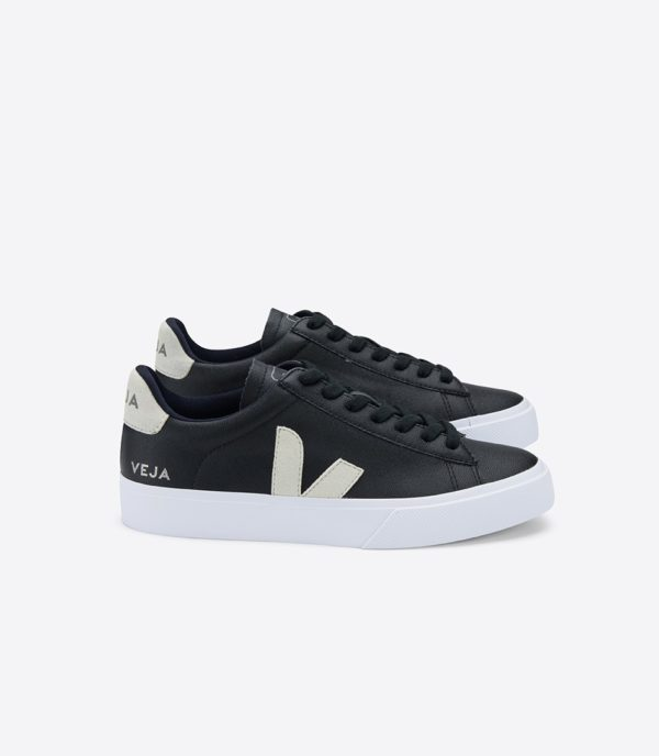 Veja Damen Schuhe Campo Chromefree Leather Black Natural