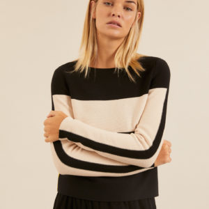 Lanius Damen Pullover Colorblock