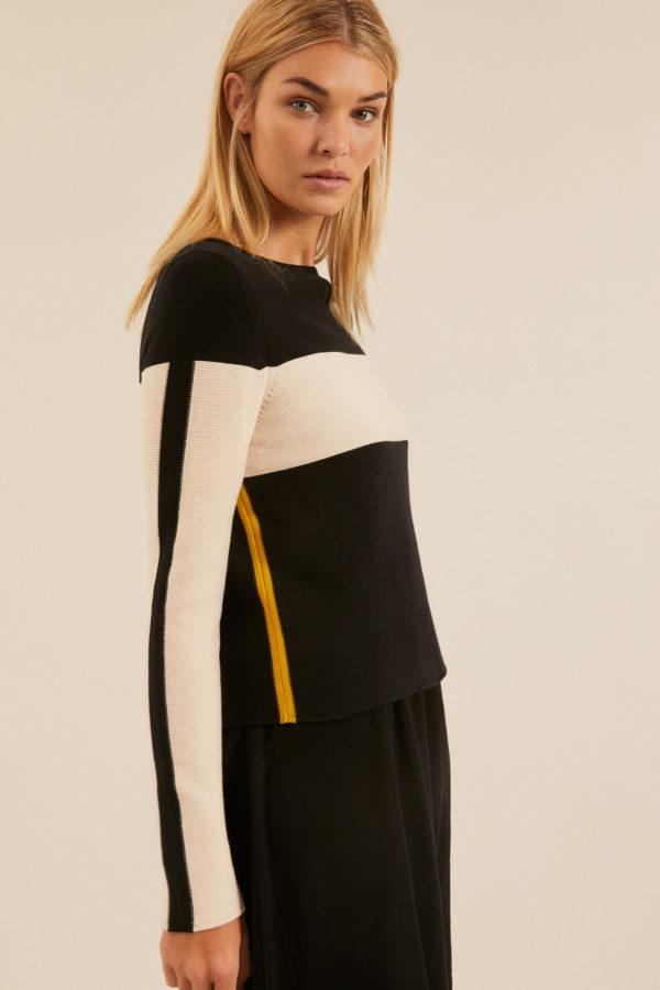 Lanius Damen Pullover Colorblock