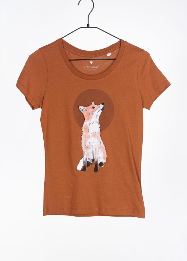 LOVEAFAIR Damen T-Shirt Fuchs, versch. Farben