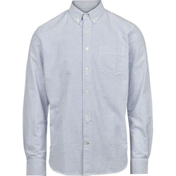 KnowledgeCotton Herren Hemd Elder LS striped oxford shirt 90103