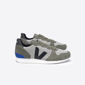 Veja Herren Schuhe Holiday Low Top B Mesh Silver Grey Black