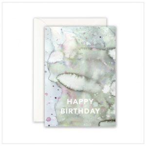 Leo La Douce Klappkarte Happy Birthday Waterclouds