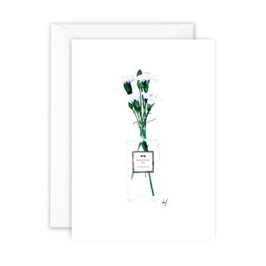 Leo La Douce Klappkarte Flacon Vase