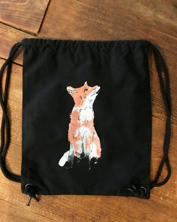 LOVEAFAIR Turnbeutel Fuchs schwarz