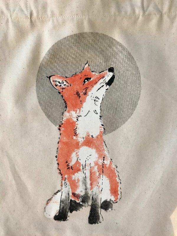 LOVEAFAIR Stoffbeutel Fuchs natur
