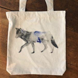 LOVEAFAIR Stoffbeutel Wolf natur