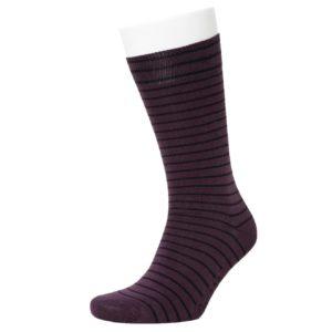 Opi & Max Unisex Socken Stripe Pattern violett