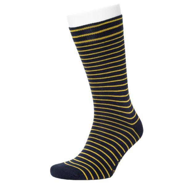 Opi & Max Unisex Socken Stripe Pattern navy