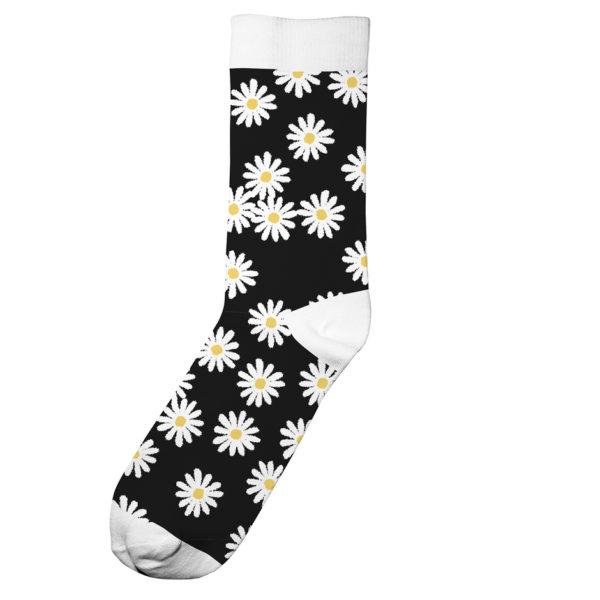Dedicated Unisex Socken Sigtuna Flowers black