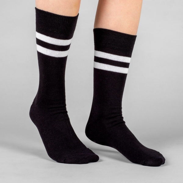 Dedicated Unisex Socken Sigtuna Double Stripes black