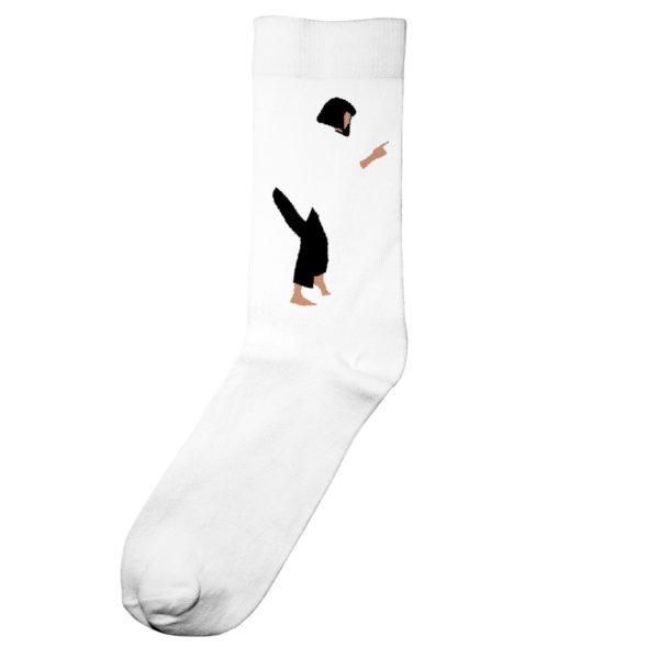 Dedicated Unisex Socken Sigtuna Pulp Fiction Dance white