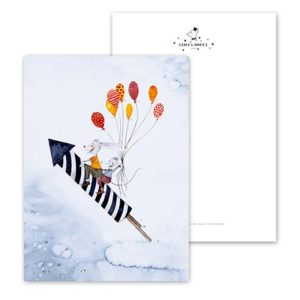 Leo La Douce Postkarte Rocket Friends