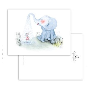 Leo La Douce Postkarte Elephant Shower