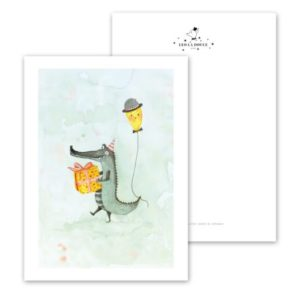 Leo La Douce Postkarte Crocodile´s Gift
