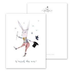Leo La Douce Postkarte Wünsch dir was