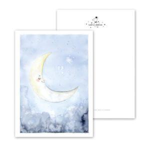 Leo La Douce Postkarte Sleepy Moon