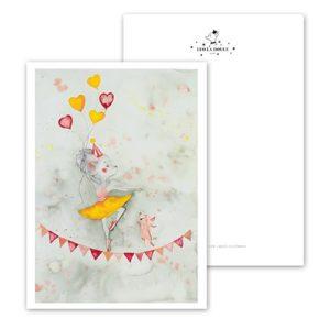Leo La Douce Postkarte Miss Ballerina