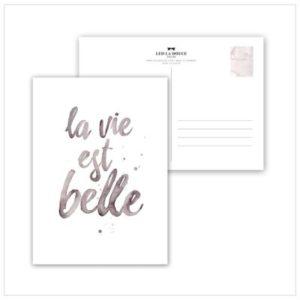 Leo La Douce Postkarte la vie est belle