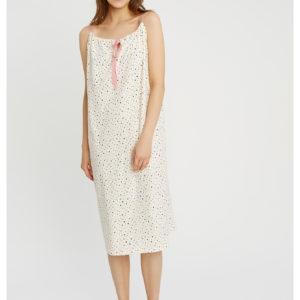 People Tree Damen Pyjama Nightdress Heart