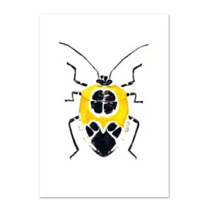 Leo La Douce Kunstdruck A4 Yellow Beetle