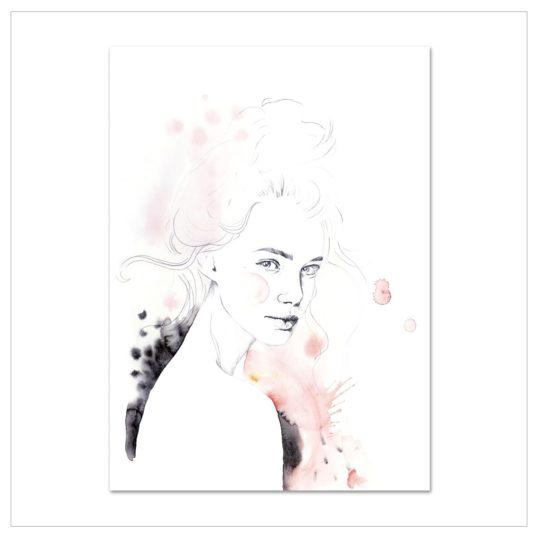 Leo La Douce Kunstdruck Miss Louise