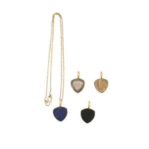 Ting Goods Kette Triangle Stone Kette, versch. Steine