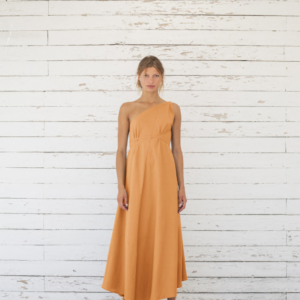 Suite 13 Damen Kleid Daphne Long Onesize Cotton/Linen Apricot