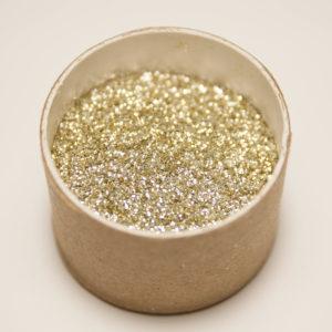 Biologisch abbaubarer Glitzer, Gold