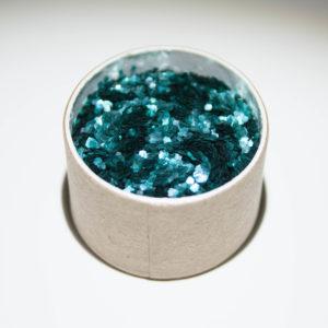 Biologisch abbaubarer Glitzer, Chunky green