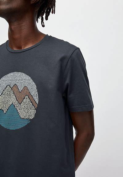 Armedangels Herren T-Shirt Jaames Scribble Mountain, versch. Farben