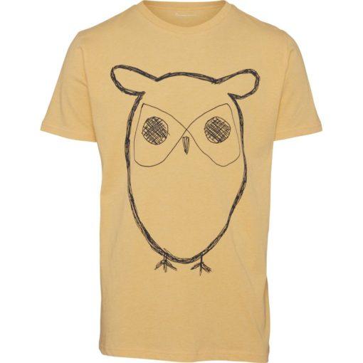 Knowledge Cotton Herren T-Shirt Owl Print 10184 in versch. Farben