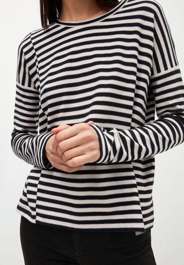 Armedangels Damen Longsleeve Palinaa Knitted Stripe