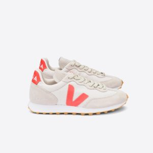 Veja Damen Schuhe Riobranco Hexamesh Gravel Orange-Fluo