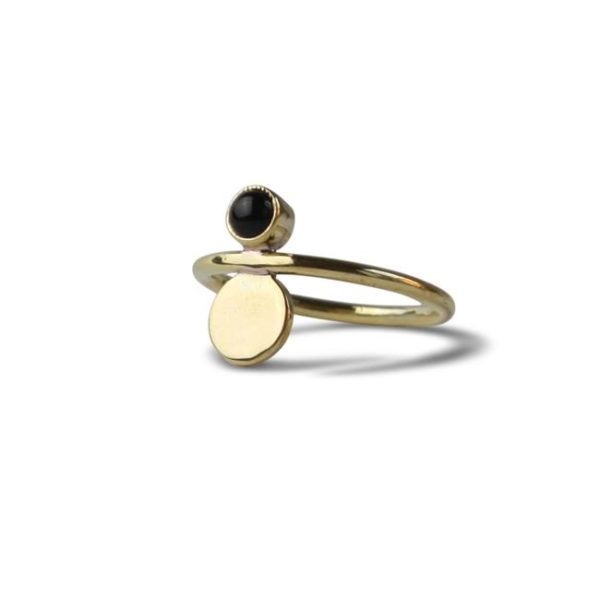 Ting Goods Two Circles Ring Messing