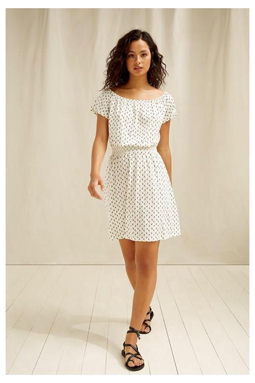 People Tree Damen Kleid Ingrid Olive Print
