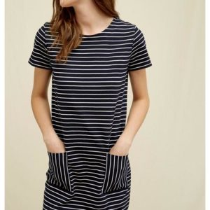 People Tree Damen Kleid Phoebe Stripe