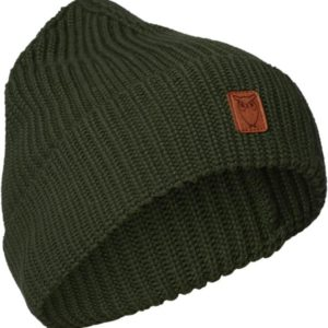 KnowledgeCotton Herren Mütze Ribbing Hat 82214 Green Forest