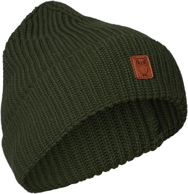 KnowledgeCotton Herren Mütze Ribbing Hat 82214 Green Forest