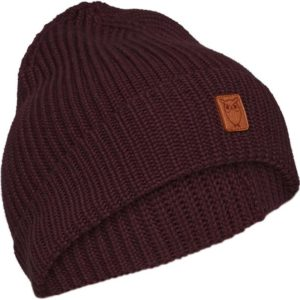 KnowledgeCotton Herren Mütze Ribbing Hat 82214 Fig
