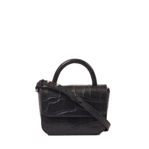 O My Bag Handtasche Nano Black Croco Classic Leather