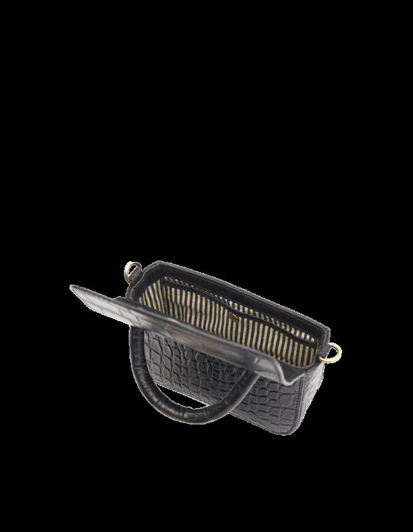 O My Bag Handtasche Nano Black Croco Classic Leather