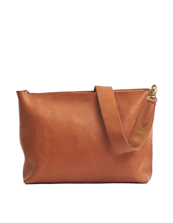 O My Bag Handtasche Olivia Cognac Stromboli Leather