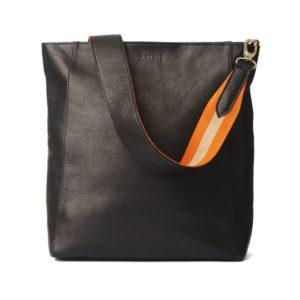 O My Bag Handtasche Sofia Black Stromboli Orange Webbing